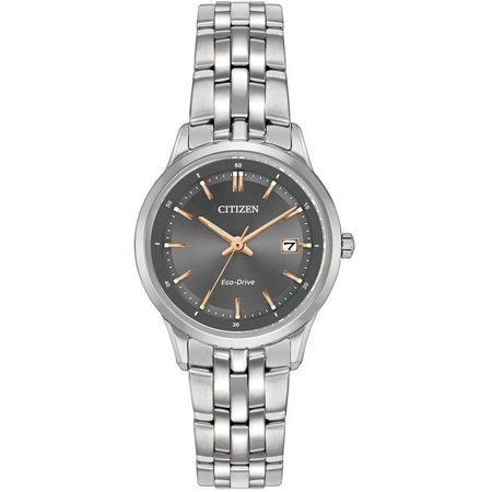 Citizen Women's Eco-Drive Sapphire Stainless Steel Watch (Best Deals On Citizen Eco Drive Watches)