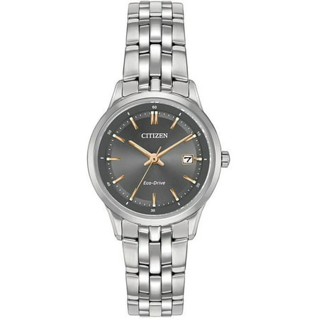Citizen Eco Drive Stainless Steel Watch - Citizen Women's Eco-Drive Sapphire Stainless Steel Watch EW2400-58H