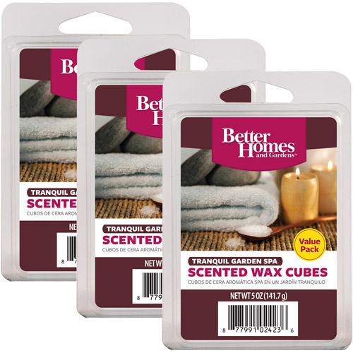 Better Homes And Gardens Value Wax Pack, Tranquil Garden Spa