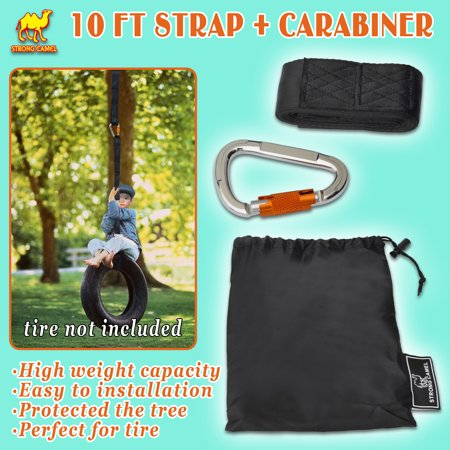 Strong Camel New 10 ft Extra Long Swing Hanging Strap for Tree