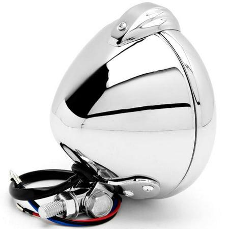 Kapsco Moto Universal Chrome Motorcycle Headlight with Bracket For Yamaha Road Star Warrior Midnight XV - image 1 of 7