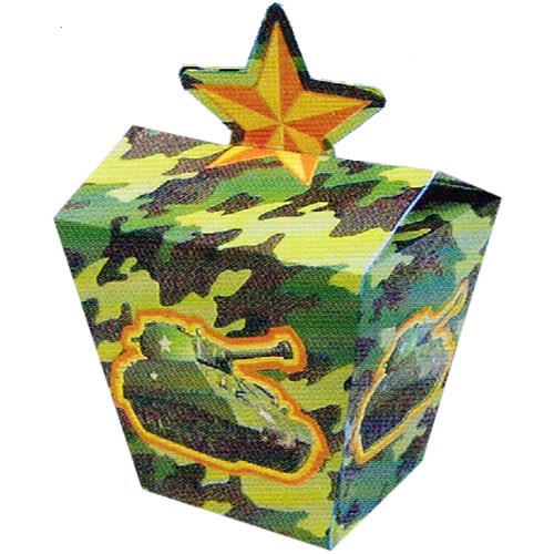 Military Camouflage Favor Boxes (8ct)