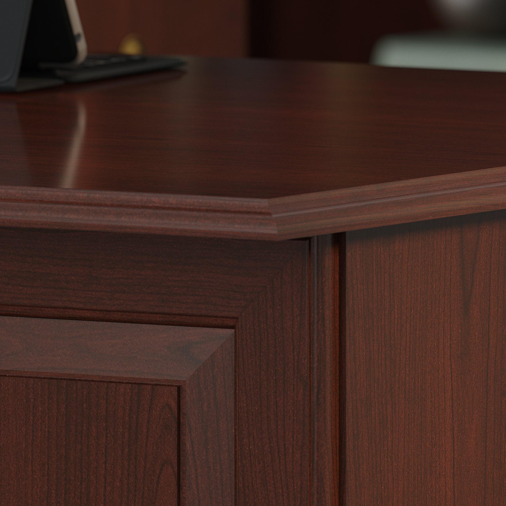 Bush Furniture Saratoga L Shaped Computer Desk In Harvest Cherry Com