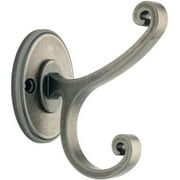 Liberty Casual Scroll Coat and Hat Hook, Antique Iron