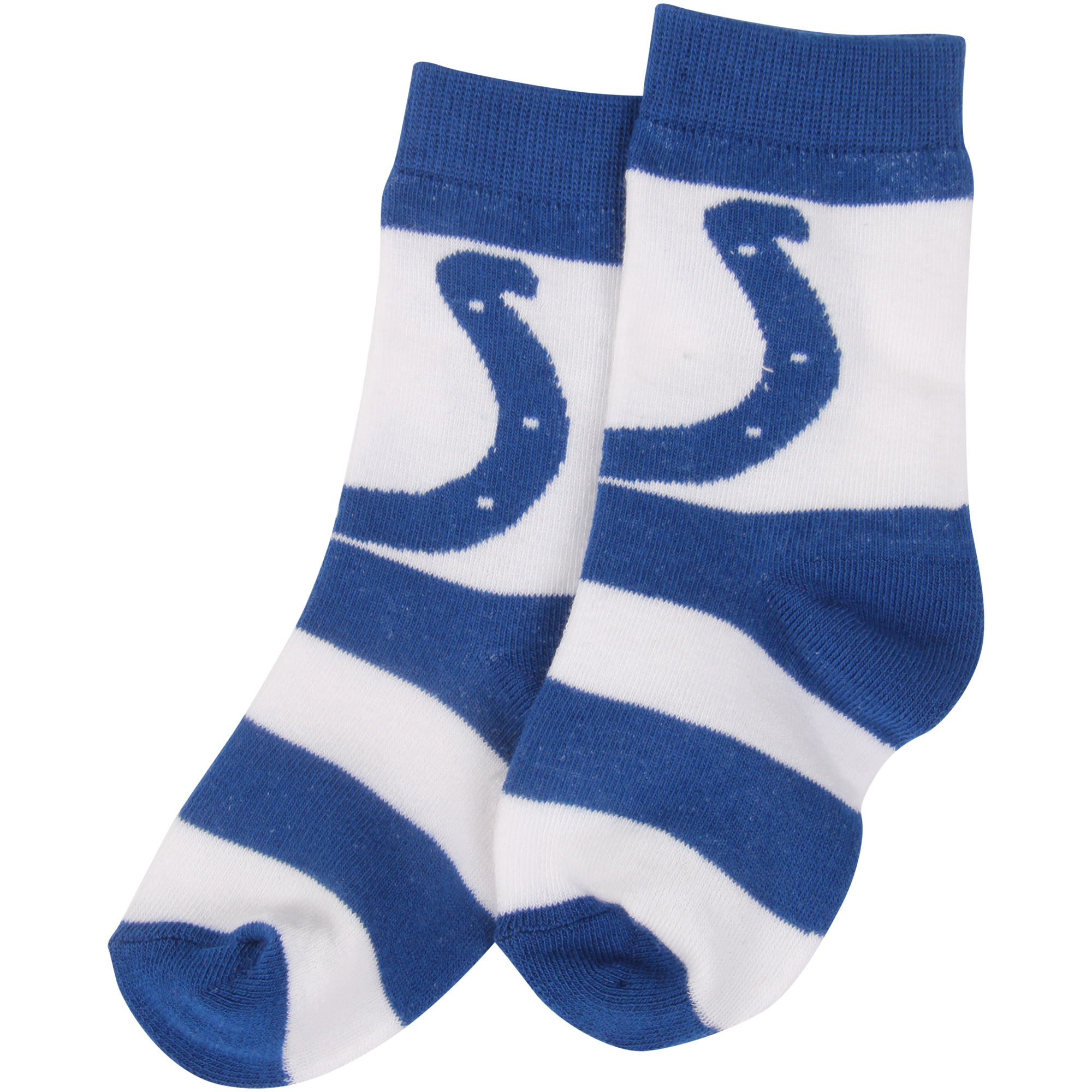 Indianapolis Colts For Bare Feet Toddler Rugby Block Socks - No Size