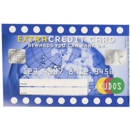 Eureka Reward Punch Cards, Extra Credit Card, Package of 36