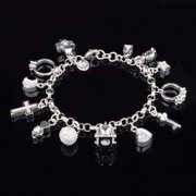 My Charmed Life - Silver Charm Bracelet For Woman