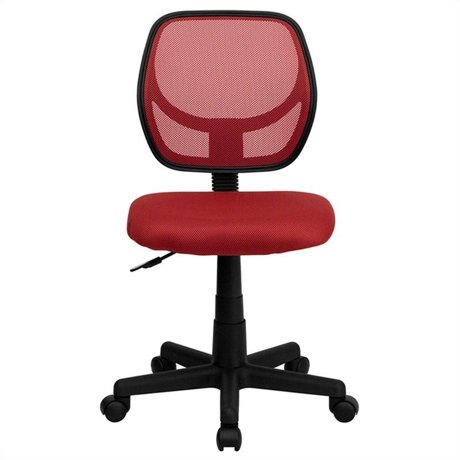 Flash Furniture Mid Back Red Mesh Task And Computer Office