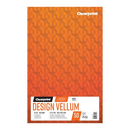 Clearprint Design Vellum Pad, Ungridded, 11in x (Design Vellum)
