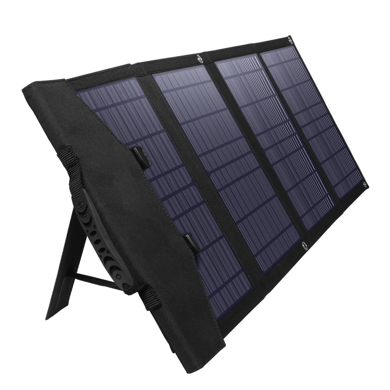 Dual 5V USB, 18V DC Output Waterproof Foldable Monocrystalline Solar Panel For Generator Power Station Trailer Camper RV 120W Portable Solar Panel Charger Kit Boat Phones Laptop US Stock