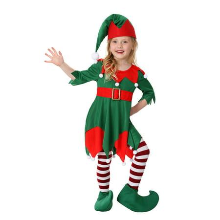Toddler Girl's Santa's Helper (Children's Santa's Helper Costume)