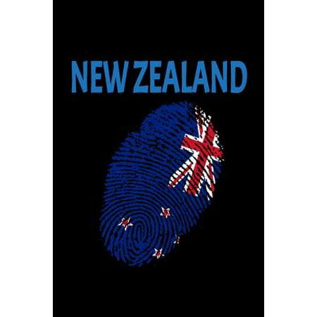 New Zealand: Fingerprint Flag Nz Country Pride Lined Blank Journal Paperback (Online-verkauf Nz)