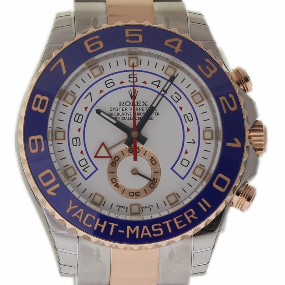 Pre-Owned Rolex Yacht-master Ii 116681 Steel  Watch (Certified Authentic & Warranty)