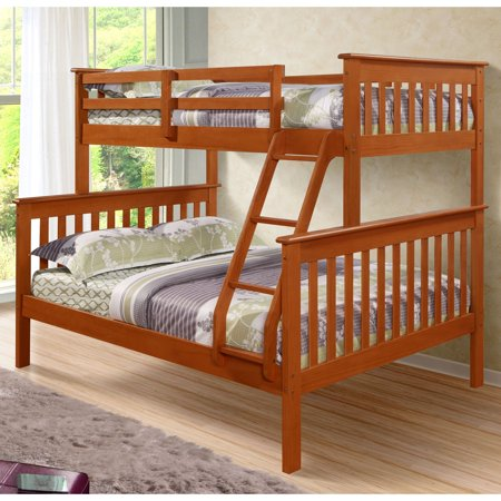 - Donco Kids Twin Over Full Mission Bunk Bed