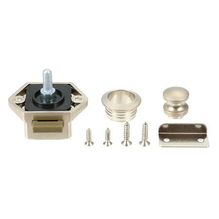 Car Push Lock Diameter 20mm RV Caravan Boat Motor Door Locking Home Cupboard Cabinet Drawer Button Locks For Furniture Hardware (Champagne) - image 7 of 7