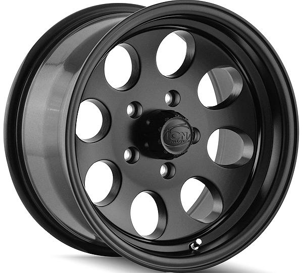 "15"" Inch Ion 171 15x10 5x114.3(5x4.5"") -38mm Matte Black Wheel Rim"