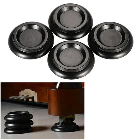 4pcs/set Solid Wood Upright Piano Caster Cups w/ EVA Anti-slip -