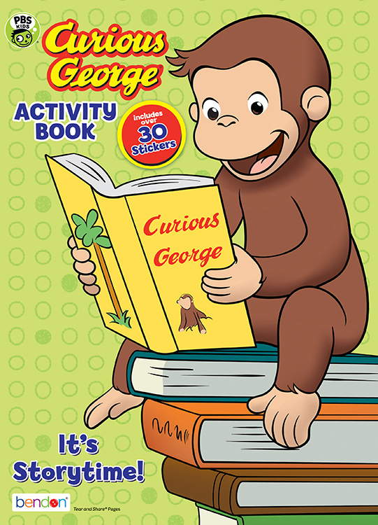 Bendon Publishing PBS Kids Curious George Storytime Coloring Activity Book  With Stickers - Walmart.com - Walmart.com