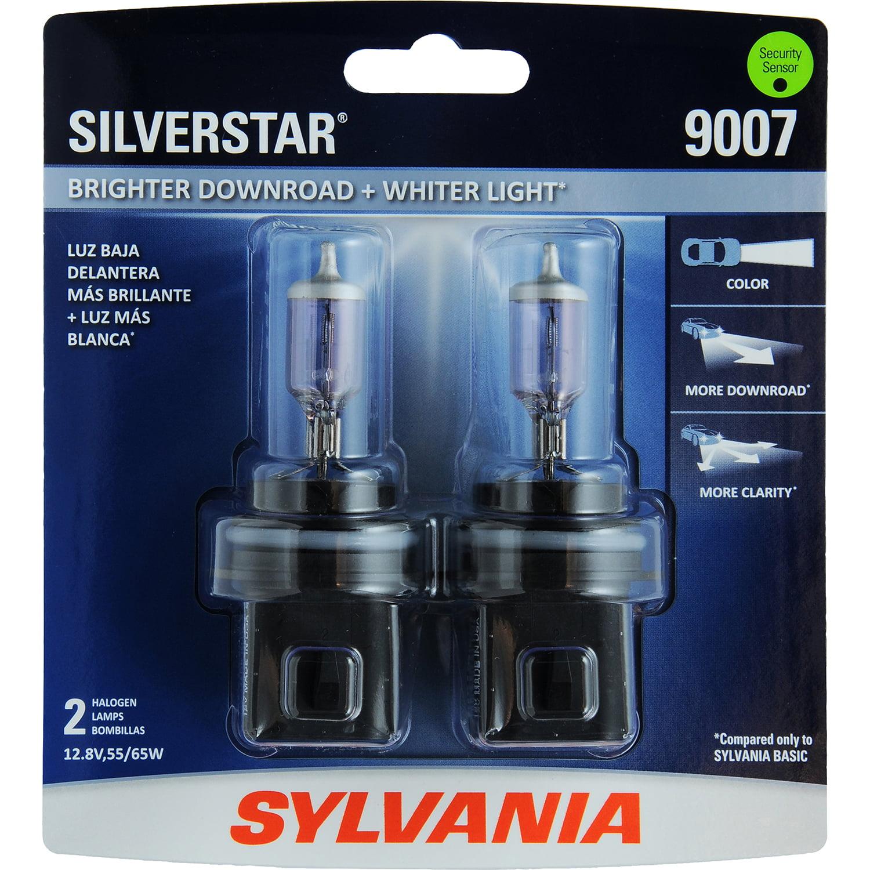 SYLVANIA 9007 SilverStar Halogen Headlight, Contains 2 Bulbs