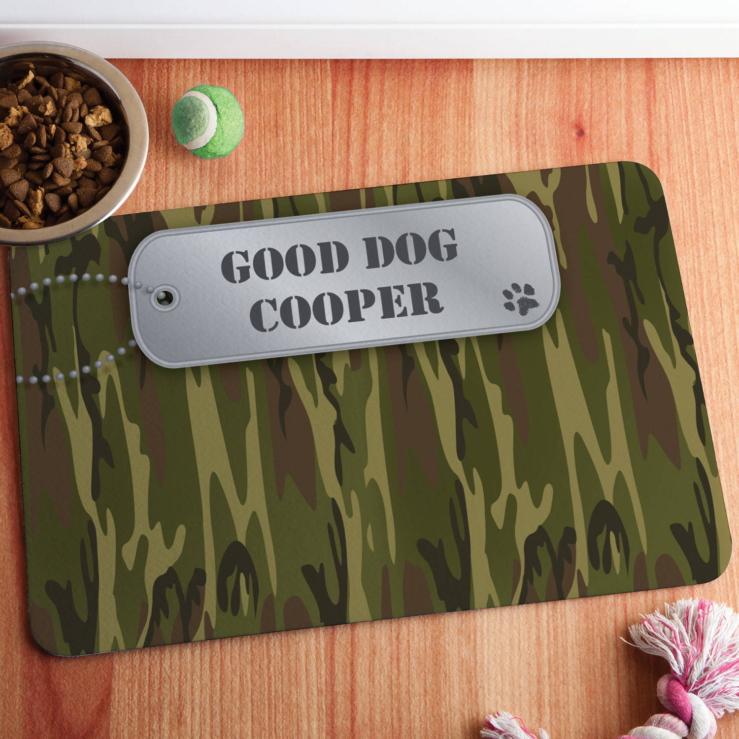 Personalized Camo Meal Mat, Multiple Colors