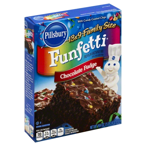 Pillsbury Funfetti Chocolate Fudge Premium Brownie Mix, 19.4 oz