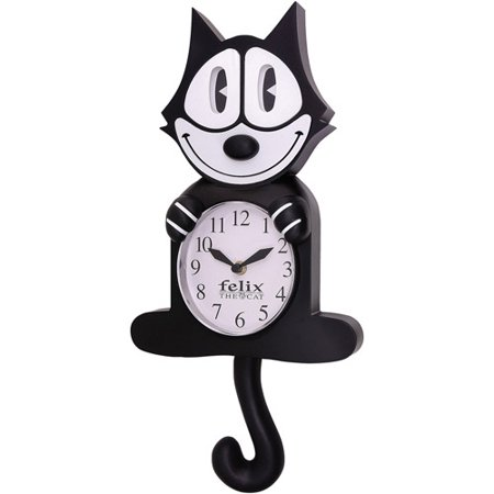 Njcroce Felix The Cat Animated Wall Clock Walmart Com