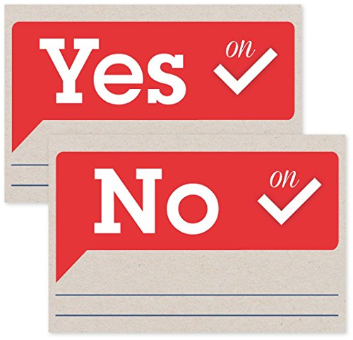Write Your Representative Cards | Voice Your Opinion on Voting 50 Cards Per Pack (25 Yes Cards & 25 No Cards) by Jot & Mark