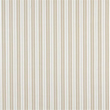 Designer Fabrics B460 54 in. Wide Beige, Ticking Striped Indoor & Outdoor Marine Scotchgard Acrylic Upholstery Fabric - Outdoor Acrylic Fabric