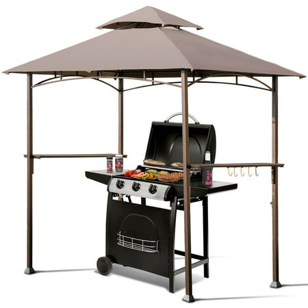 Gymax 8 X5 Outdoor Barbecue Grill Gazebo Canopy Tent Patio Bbq Shelter W