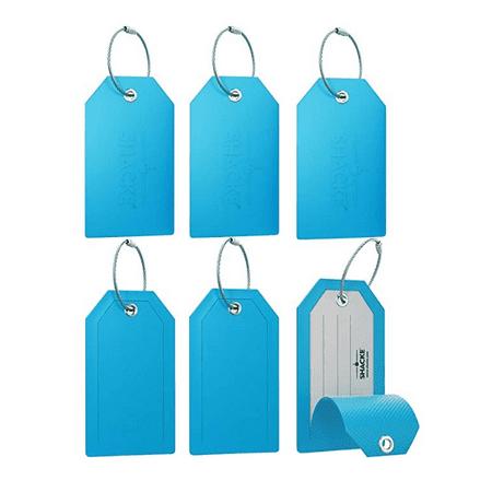 Mini Privacy Luggage Tags (Aqua Teal, 6 Pack) Mini Privacy Luggage Tags (Aqual Teal, 6 Pack)