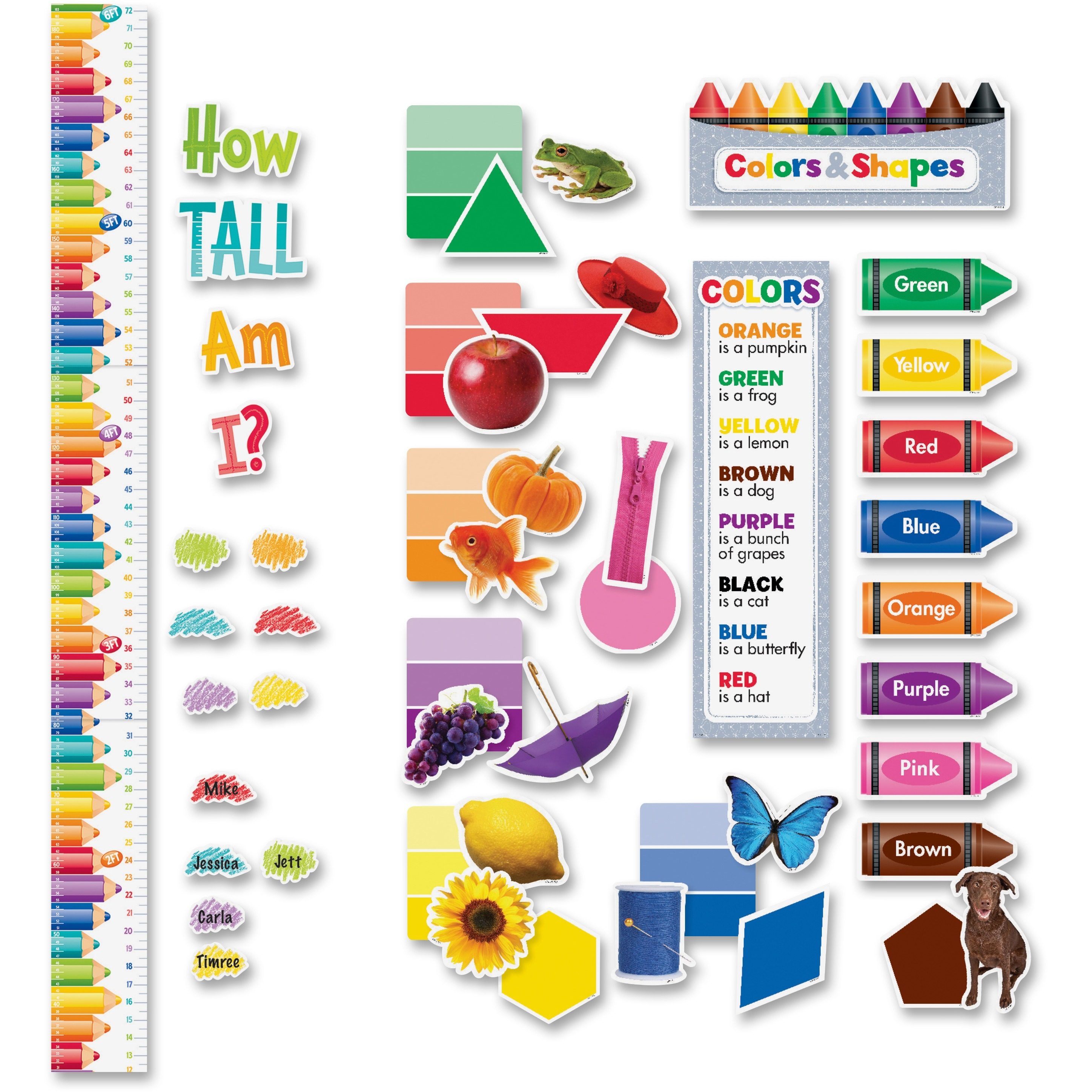 Creative Teaching Press Colors/Growth Chart Bulletin Board Set, Multicolor, 94 / Set (Quantity)