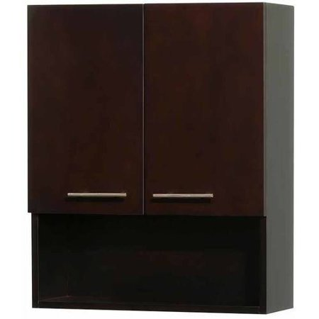 Wyndham Collection Centra Wall-Mounted Bathroom Storage Cabinet in Espresso  (2-Door) - Wyndham Collection Centra Wall-Mounted Bathroom Storage Cabinet In
