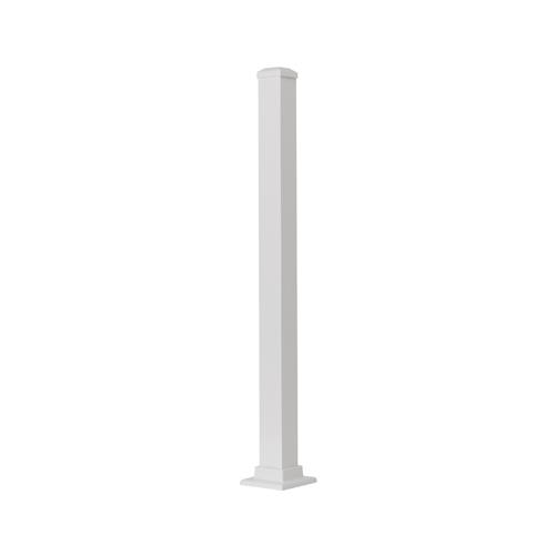 Gilpin Ironworks 629042FW Aluminum Post, White, 43-In.