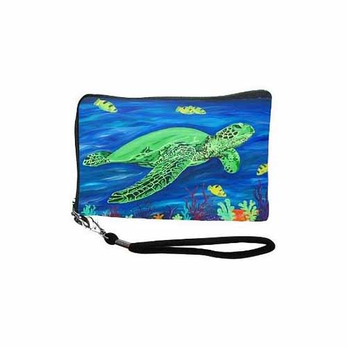Wisdom Cell Phone Wristlet by Salvador Kitti - SK-SeaTurtle-CPW