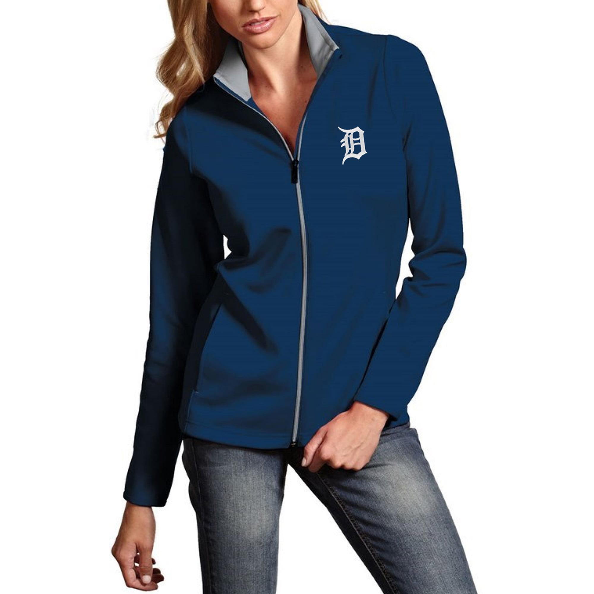Detroit Tigers Antigua Women's Leader Full-Zip Jacket - Navy