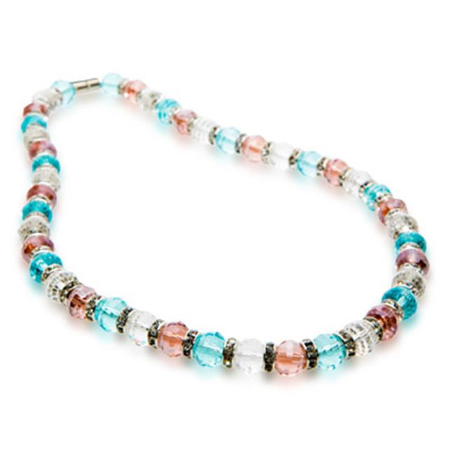 Alexander Kalifano WHITE-NGG-N16 Gorgeous Glass Necklaces - Multi-Colored