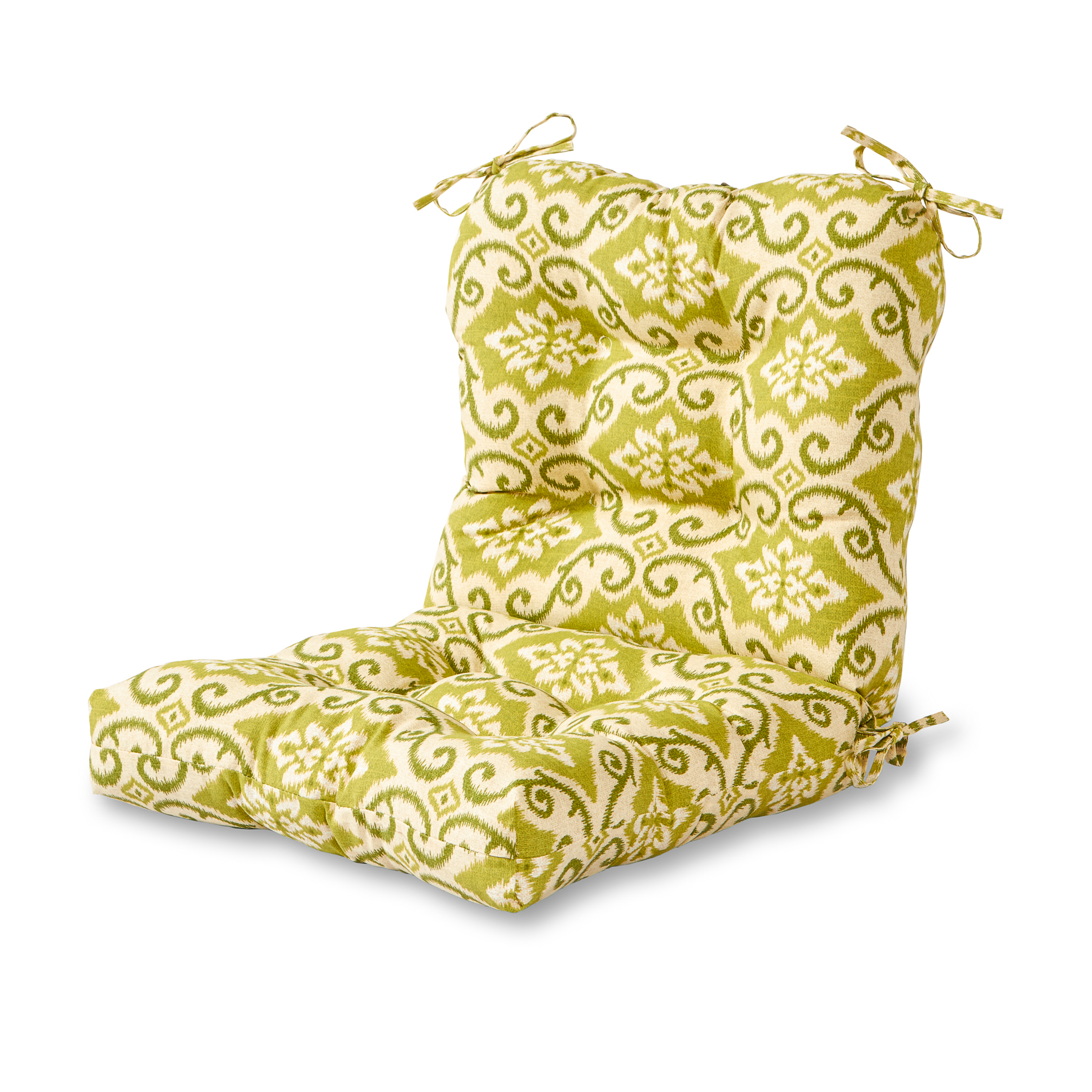 Greendale Home Fashions Green Ikat Outdoor Chair Cushion