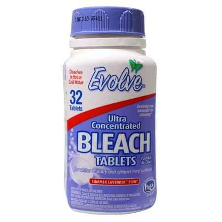 Evolve Ultra Concentrated Bleach Tablets, Summer Lavender Scent, 32