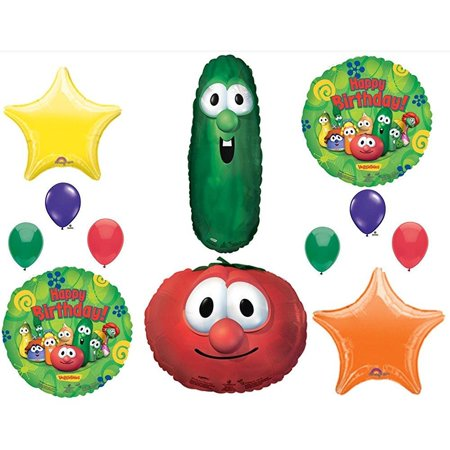 VEGGIE TALES LARRY CUCUMBER & BOB TOMATOE BIRTHDAY PARTY Balloons Decorations Supplies - Bomb Party