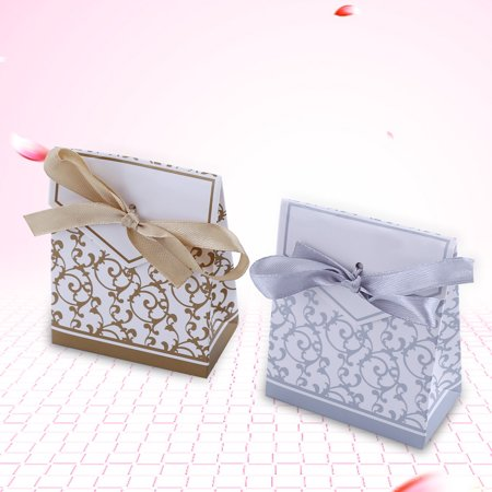 2 Colors 10PCS Elegant Wedding Party Favor Gift Candy Boxes Paper Bags Ribbon Type Hot Sale,Wedding Candy Bag, Wedding Candy Paper Bag](Paper Party Favor Bags)