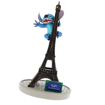 disney parks epcot paris stitch with tower eiffel figurine new with tags - Disney Halloween Figurines Walmart
