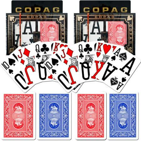 Trademark Poker Copag Poker Size Magnum Index  Blue Red Set Of 2