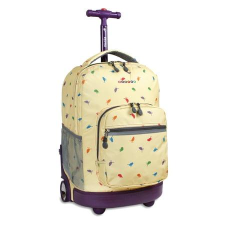 J World Sunrise Rolling Backpack (Rolling Travel Backpack)
