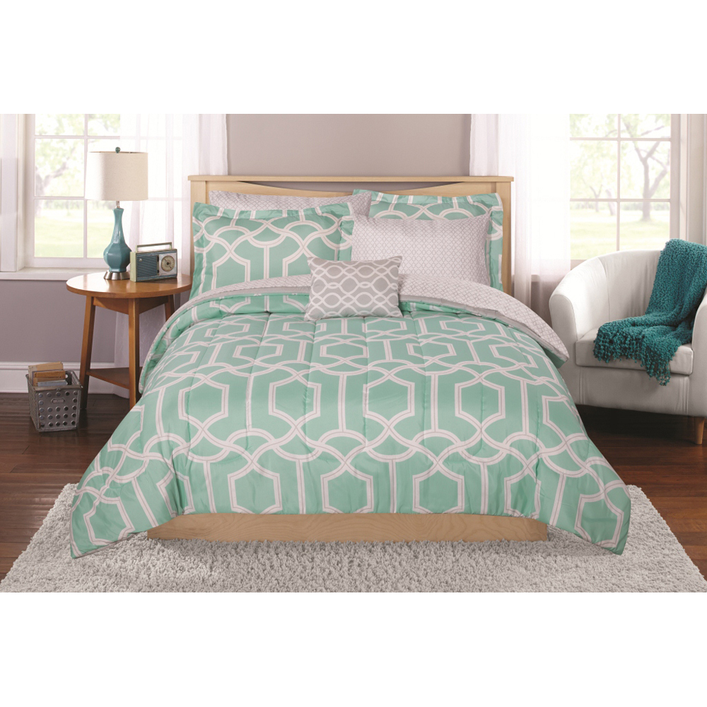Mainstays Winston Bed In A Bag Coordinating Bedding Set