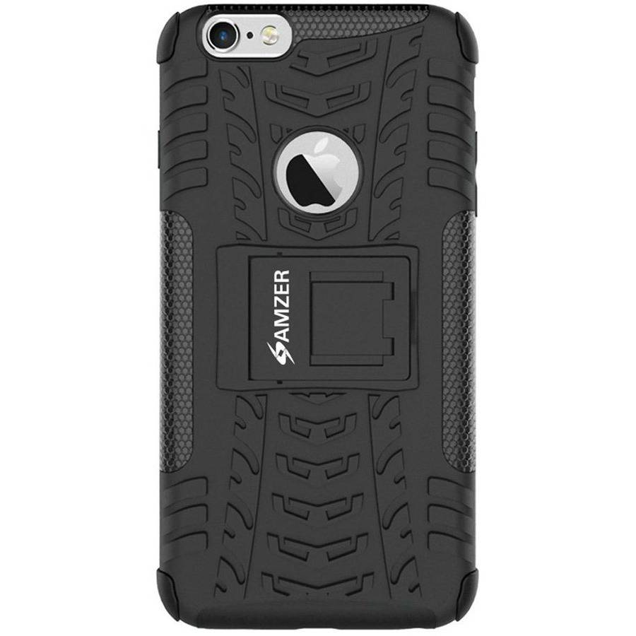 Amzer Impact-Resistant Hybrid Warrior Case for iPhone 6s Plus/6 Plus, Black