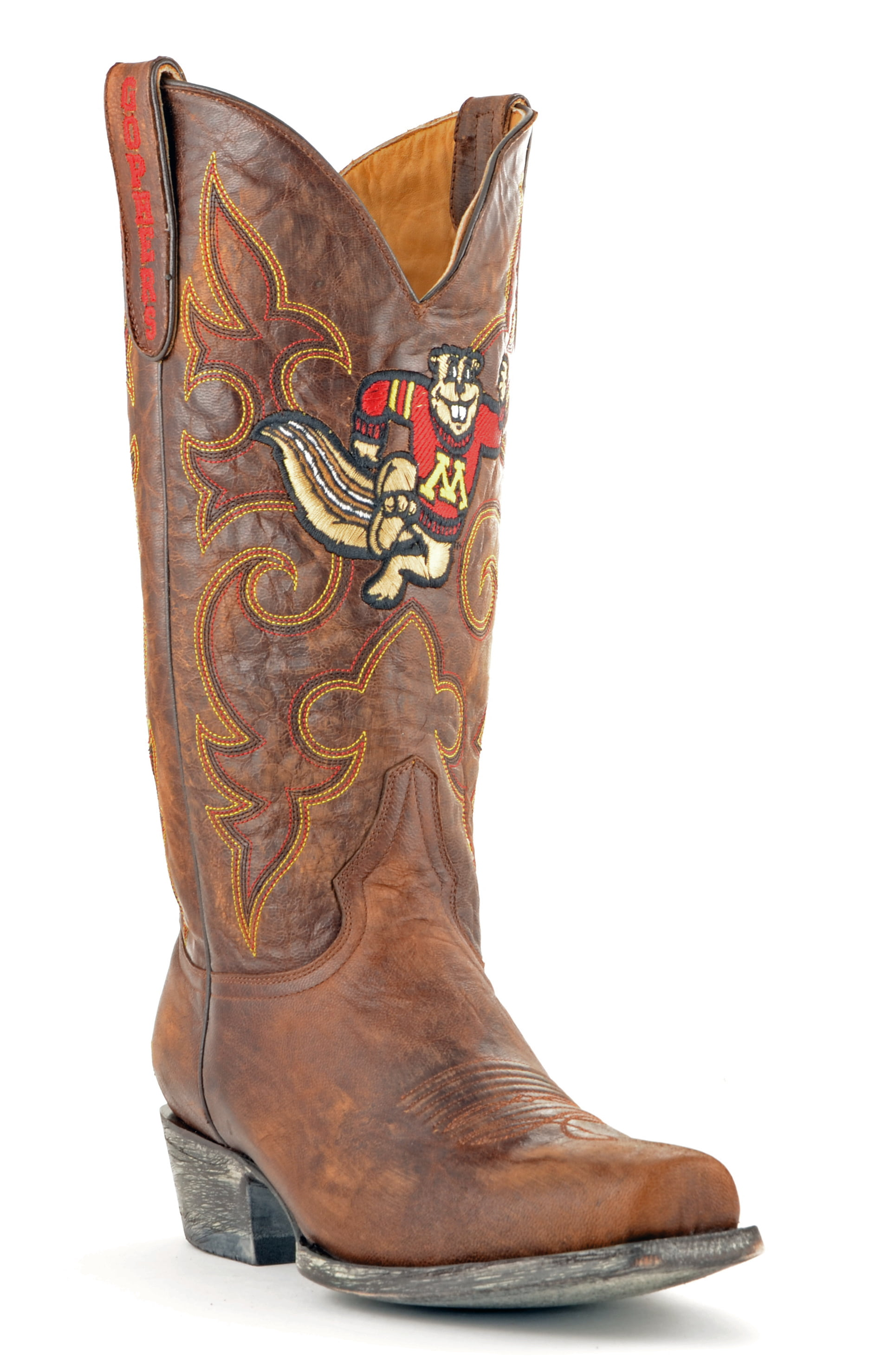 Gameday Boots Leather University Of Minnesota Board Room Cowboy Boots by GameDay Boots