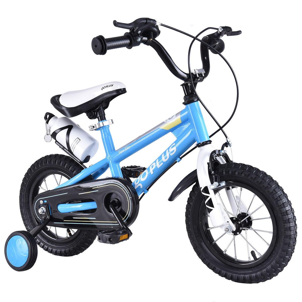 "Goplus 12"" Freestyle Kids Bike Bicycle Children Boys & Girls w Training Wheels Blue by Goplus"