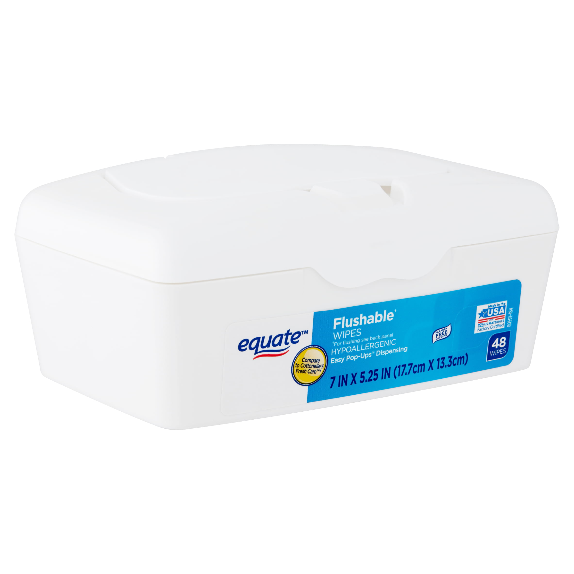 Equate Flushable Wipes 240 Count. Fresh Scent