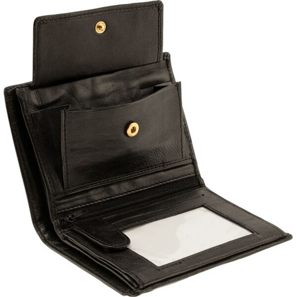 Double Bi-Fold Lambskin Mens Leather Wallet