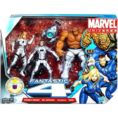 Fantastic Four Action Figure Set Future Foundation White Uniforms